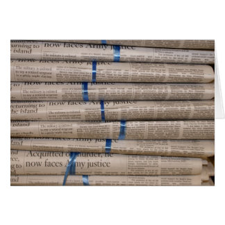 Stack of Newspapers Current Events Art Greeting Card