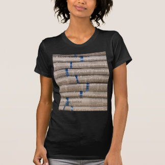 Stack of Newspapers Current Events Art T-shirt