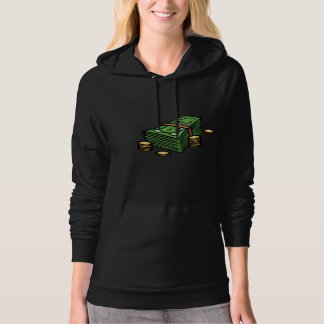Stack of Notes and Coins Womens Hoodie