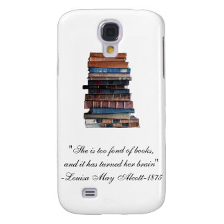 Stack of old books-Funny Quote Samsung S4 Case