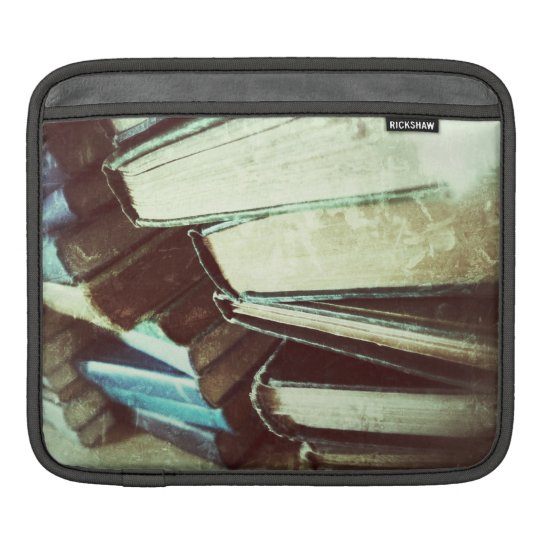 stack of old books ipad sleeve