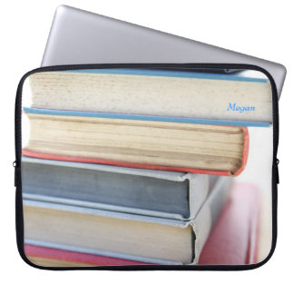 Stack of old books laptop sleeve