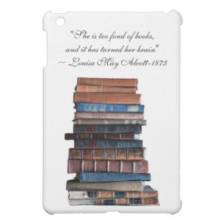 Stack of old books-with Alcott quote Case For The iPad Mini