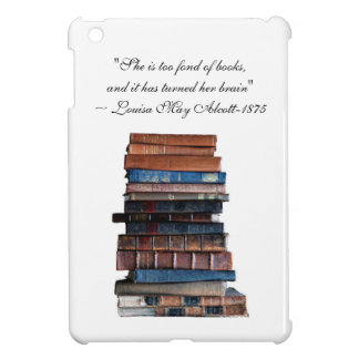 Stack of old books-with Alcott quote iPad Mini Cover