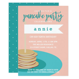 Stack of Pancakes | Birthday Party Card