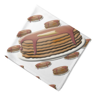 Stack of Pancakes on Plates Background Bandana