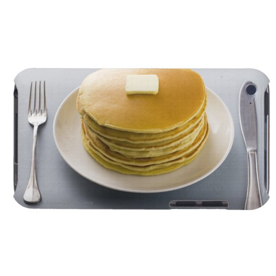 Stack of pancakes with butter on a plate iPod Case-Mate case