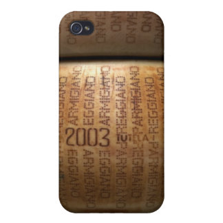 Stack of parmesan cheeses, close-up case for iPhone 4