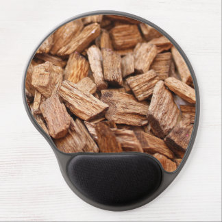 Stack of pieces of dry woods of different sizes gel mouse pad