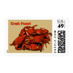Stack of Steamed Crabs Crab Feast Postage Stamps