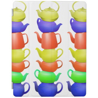 Stack of Teapots Pattern iPad Smart Cover