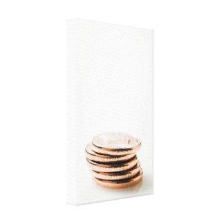 Stack of Ten Centavo Coins Canvas Print