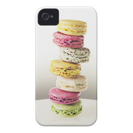Stack of vibrant macaroons iPhone 4 case