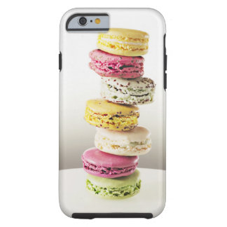 Stack of vibrant macaroons tough iPhone 6 case