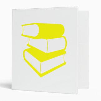 Stack Of Yellow Books Binder
