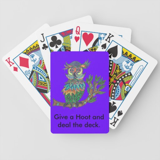 Stack the deck with Sparkle Owl! Bicycle Playing Cards