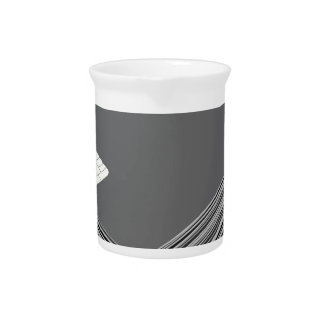 Stack with blank plastic cards with chip drink pitcher