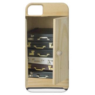 StackBriefcasesInArmoire070515 iPhone SE/5/5s Case