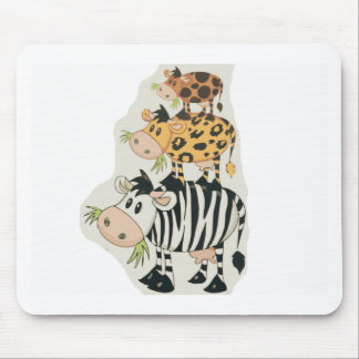 Stacked Animals Mouse Pad