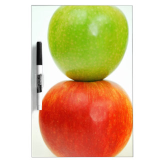 Stacked apples dry erase board