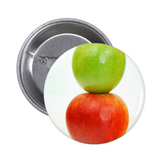 Stacked apples pinback button