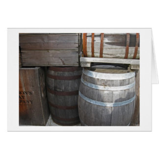 Stacked Barrels - Fort Nisqually Card
