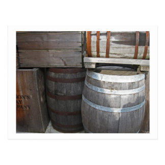 Stacked Barrels - Fort Nisqually Postcard