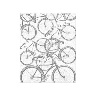 Stacked Bicycles Canvas Print