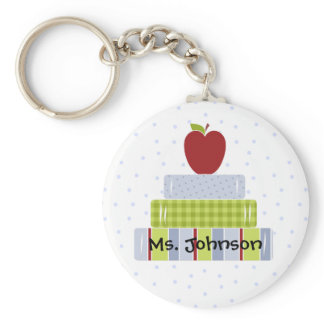 Stacked Books Teacher's Key Chain