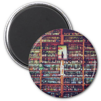 Stacked bottles 2 inch round magnet