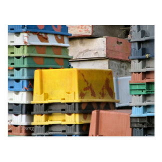 Stacked Boxes by J Young Postcard