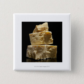 Stacked Chunks of Parmasean Cheese Pinback Button