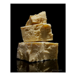 Stacked Chunks of Parmasean Cheese Poster