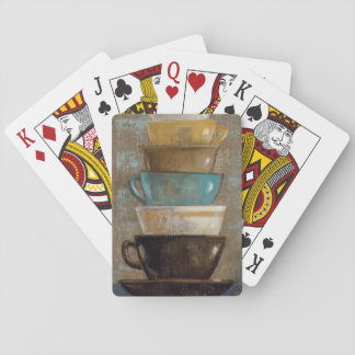 Stacked Coffee Cups Playing Cards