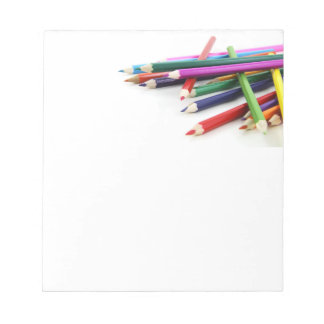 Stacked Colored Pencils Notepad
