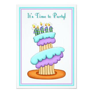 Stacked Cupcake Invitation