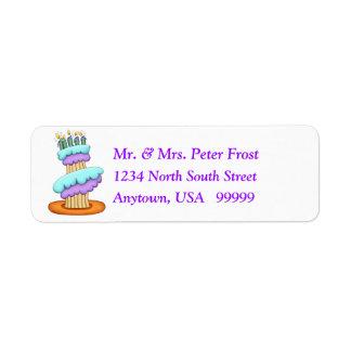 Stacked Cupcake Return Address Labels
