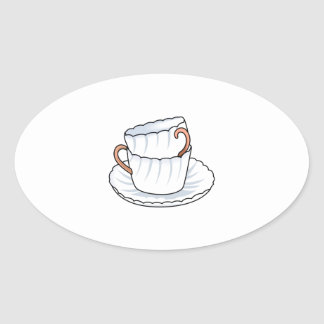 STACKED CUPS OVAL STICKER