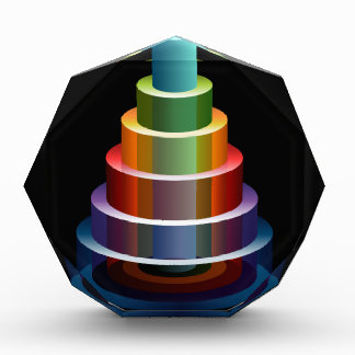 Stacked Cylinders Business Chart Icon Award