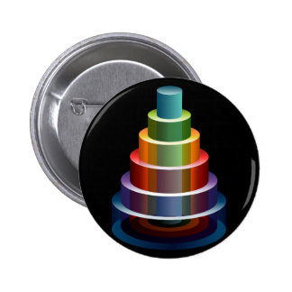 Stacked Cylinders Business Chart Icon 2 Inch Round Button