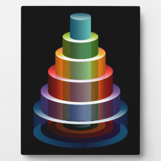 Stacked Cylinders Business Chart Icon Plaque