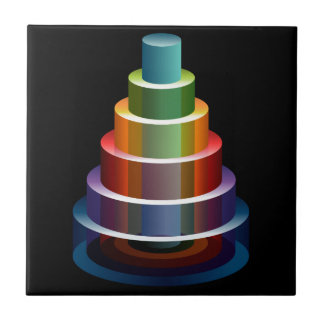 Stacked Cylinders Business Chart Icon Tile
