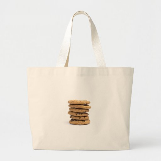 stacked delicious chocolate chip cookies bags