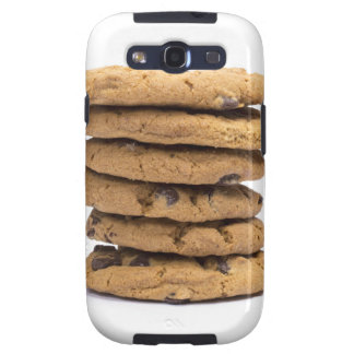 stacked delicious chocolate chip cookies samsung galaxy SIII case