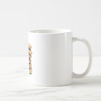 stacked delicious chocolate chip cookies coffee mug