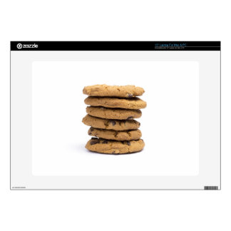 stacked delicious chocolate chip cookies skins for laptops