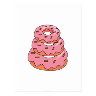 Stacked Donuts Postcard