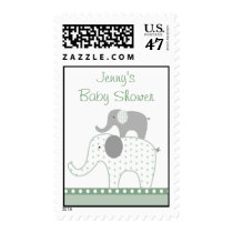 Stacked Elephant Baby Shower Postage Stamps