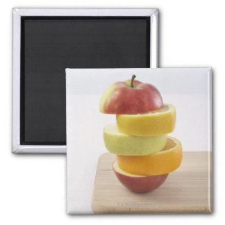 Stacked Fruit Slices Magnet