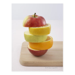 Stacked Fruit Slices Postcard